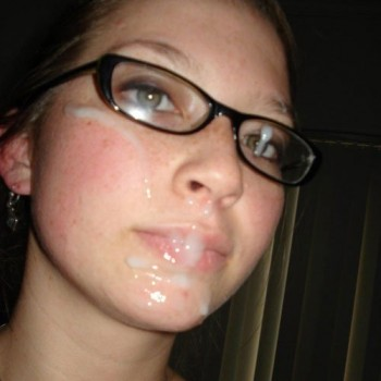 Girl's Face Dripping With Cum